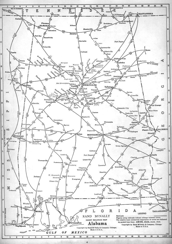 Alabama Railroad Map