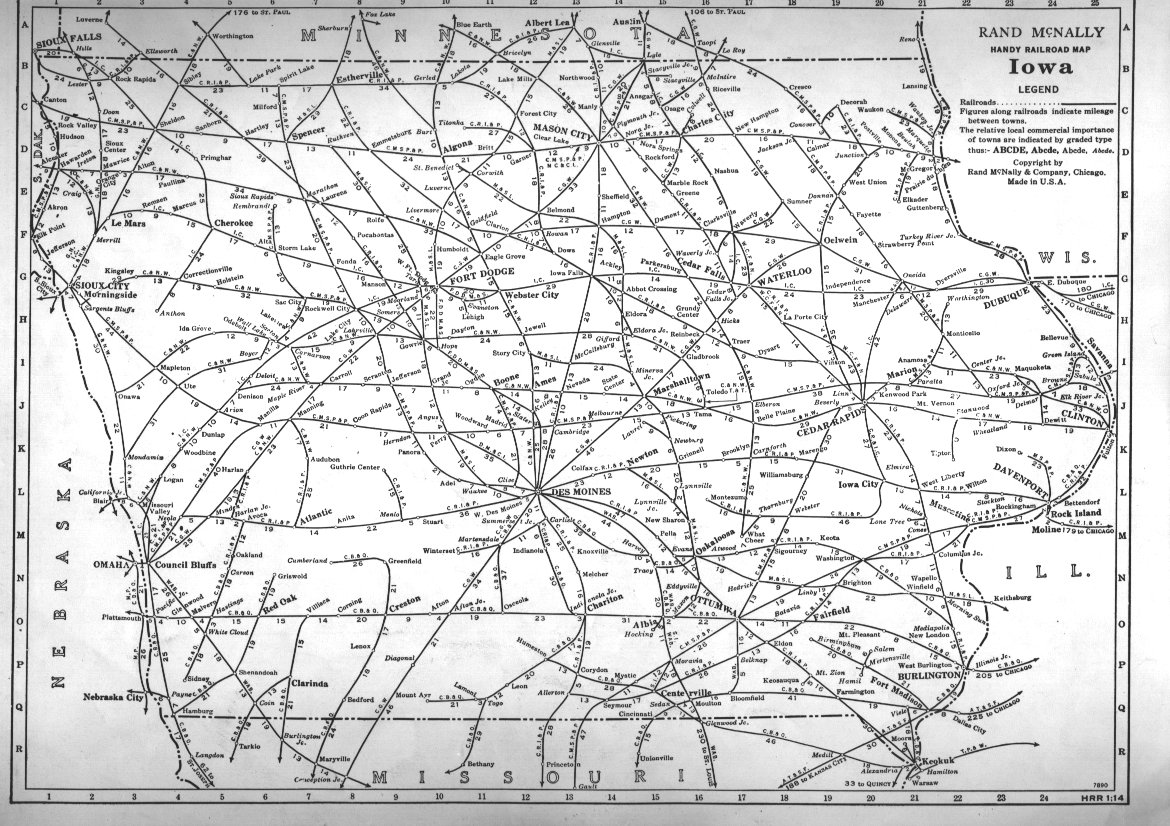 PFMSIG US Railroad Atlas - Iowa map us
