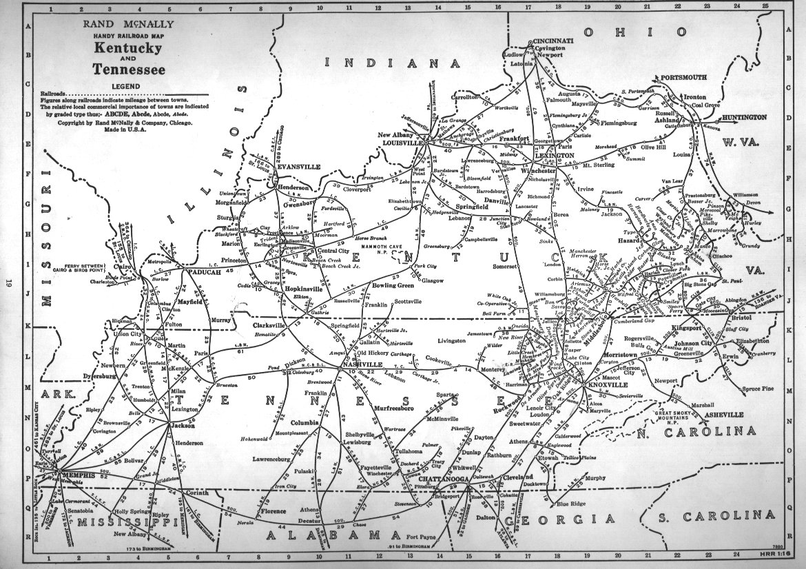 PFMSIG US Railroad Atlas - Us map of kentucky
